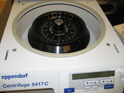 Eppendorf Centriguge in the lab
